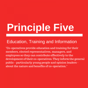 Principle five: Education, Training and Information