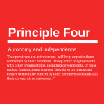 Co-operative principle four: Autonomy and Independence