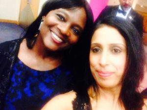 Dorothy Francis, CEO of CASE (left) and Bina Sitaram, founder of Earth Buds (right) at the 2015 Awards event